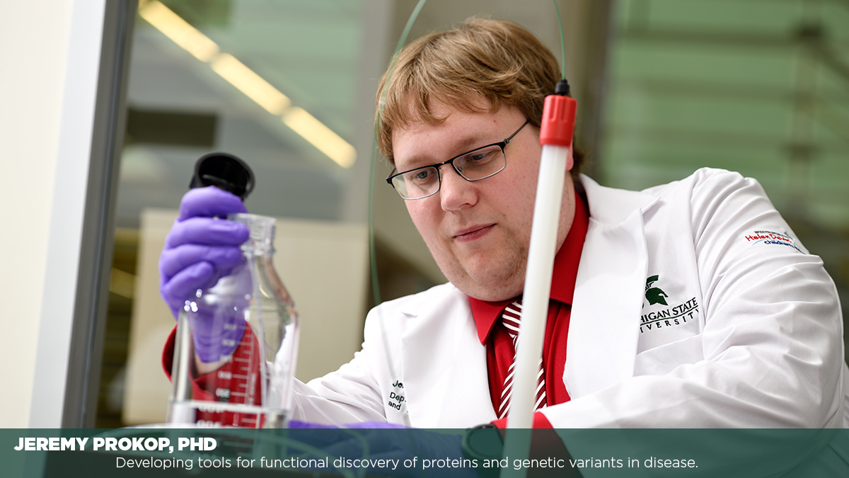 Jeremy Prokop PHD Developing Tools for Functional Discovery of Proteins and Genetic Variants of Disease